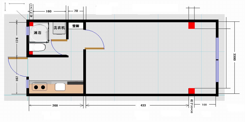 打算重新装修实用面积23平米的小房,请大家指点一下怎么布