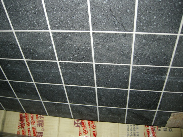 第118楼   这是店家贴在墙上的效果~~~   先上淋浴房的砖