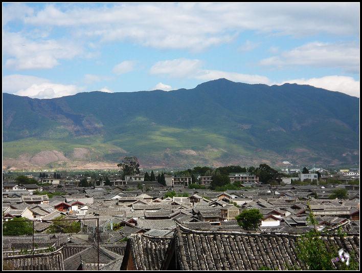 丽江风景全景图