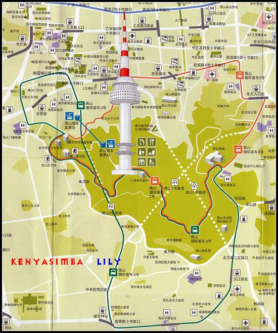 独家奉献南山塔的位置和搭乘地图