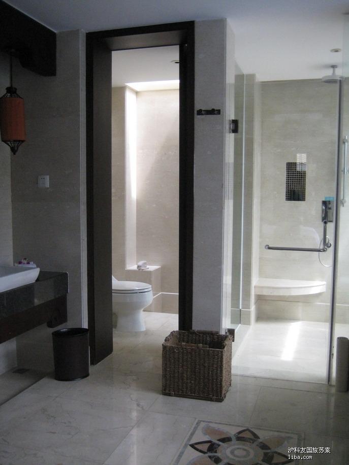 铂尔曼酒店--豪华泳池别墅--盥洗室的马桶间