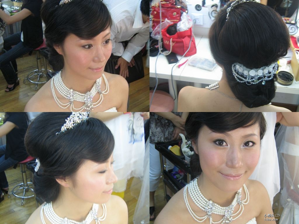 婚礼盘头发的步骤图片