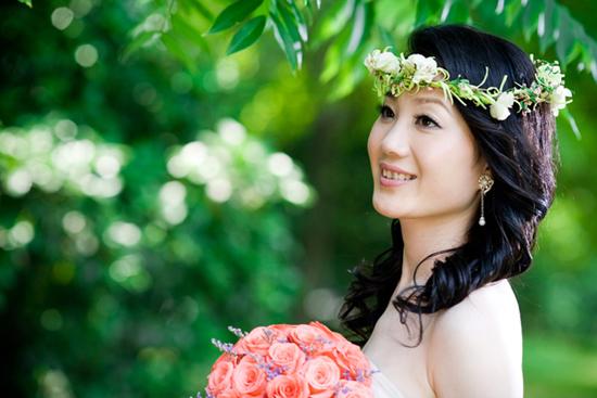 明星花环素颜婚纱照高清壁纸
