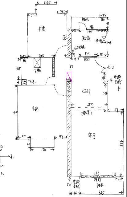 大门对着洗手间门,应该如何设计 附房型图