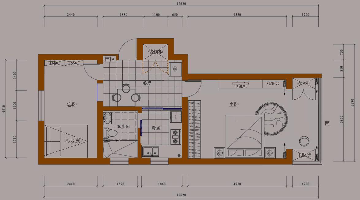 60平米自建房子设计图