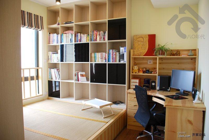 福邸铭门 三居室 98平米 书房装修效果图
