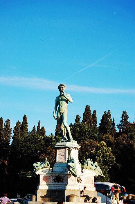 佛罗伦萨到处都是米开朗基罗的大卫像,连明信片都是大卫的全身或局部