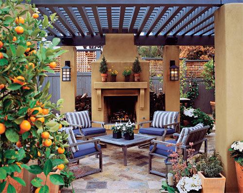 家庭小花園設計效果圖