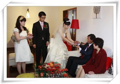 欧式婚礼公婆装