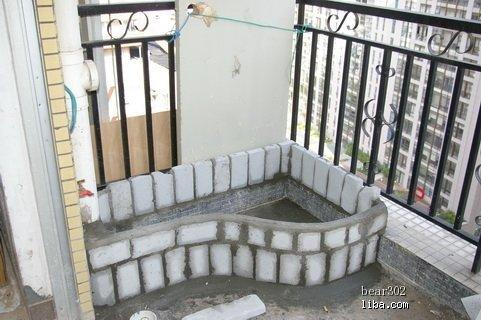 阳台鱼池荷花设计图展示