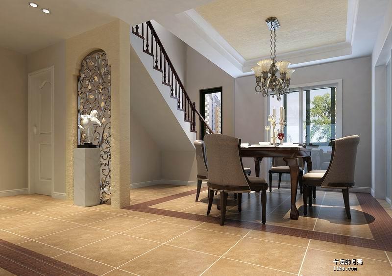 盛花园 顶楼带阁楼 追求美式效果 更新灯具照片 今天装楼梯