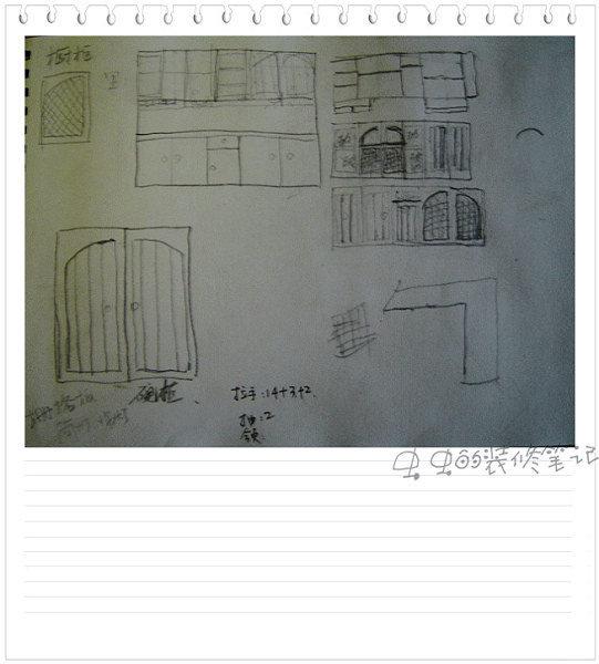 厨房的手绘图