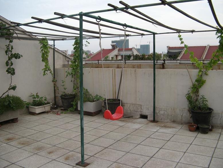 不锈钢葡萄架设计图-1500元DIY我的100平米的大露台 P29diy衣帽柜和