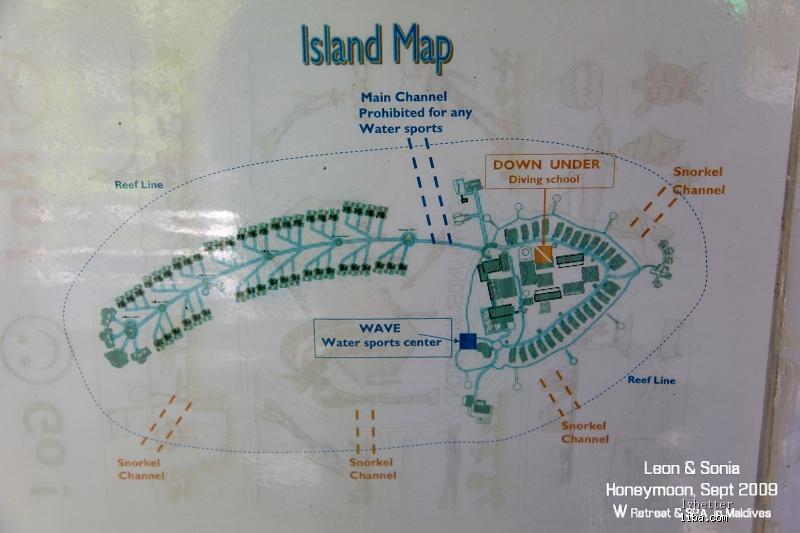 宁静岛游记,含地图和中文菜单