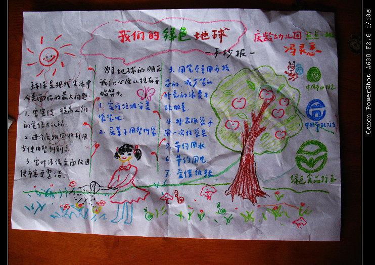 西西幼儿园要求的环保手抄报.