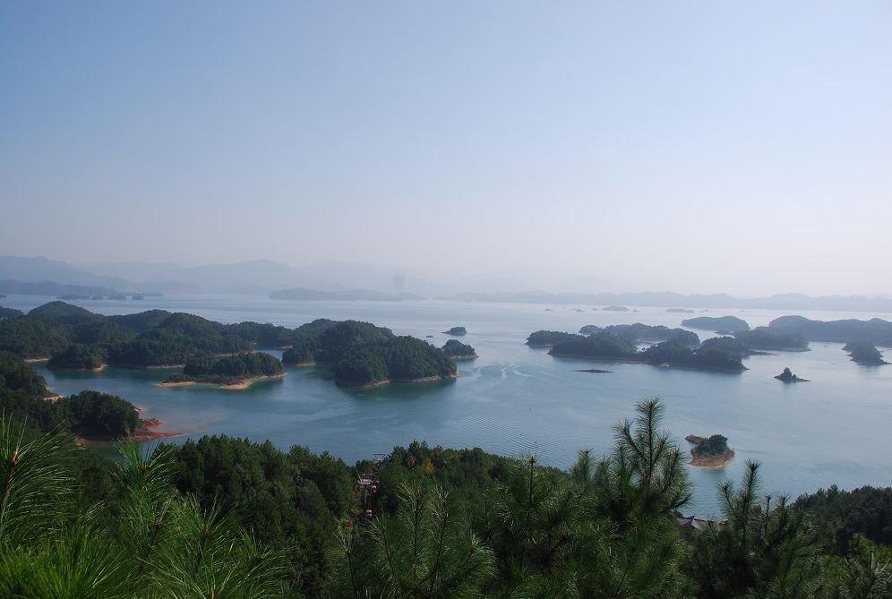 梅峰观岛俯视图
