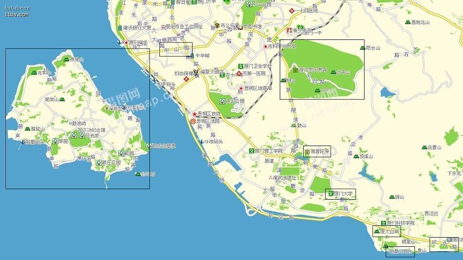 厦门旅游景点分布