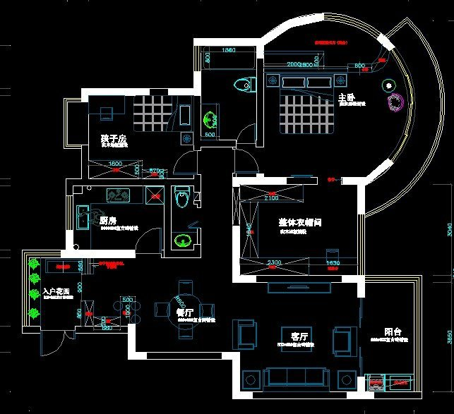 半圆落地窗房屋设计图