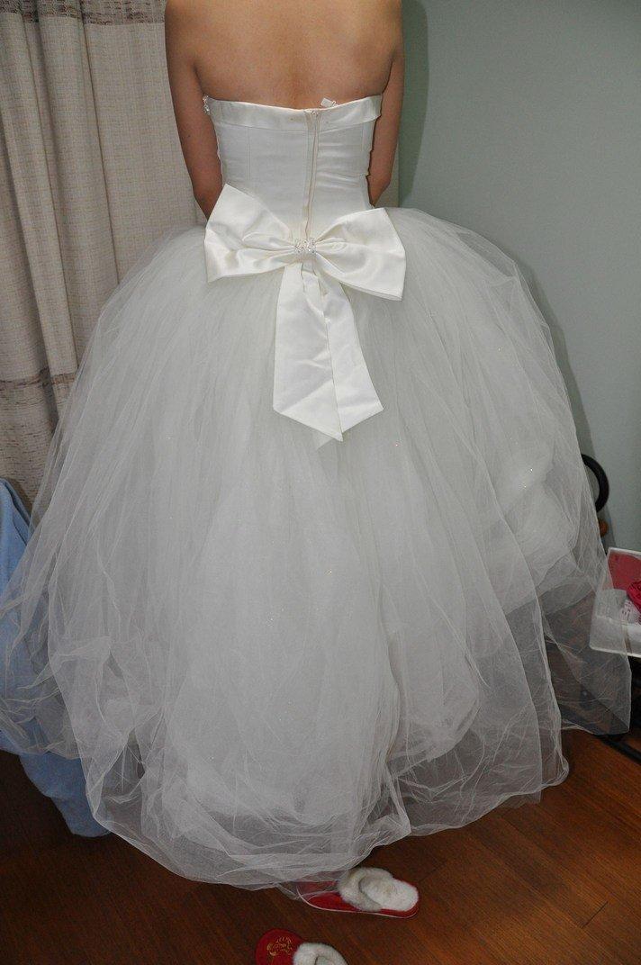 婚纱出门纱图片2