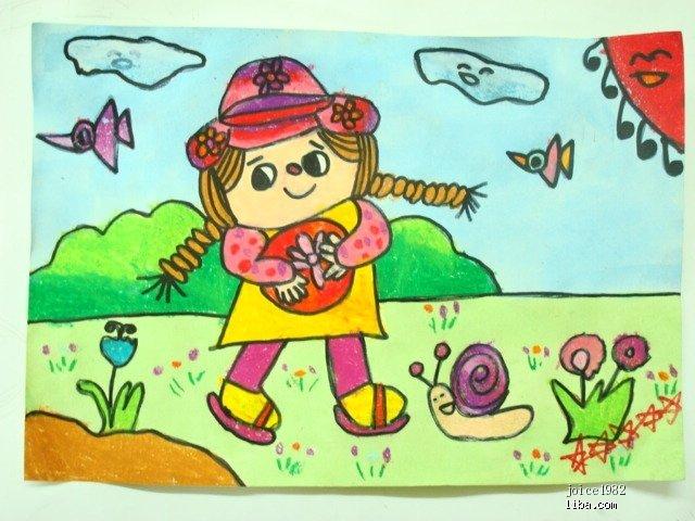 关于迎新年的儿童画