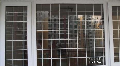 谁知道白色网格状的防盗窗哪里有得做啊?