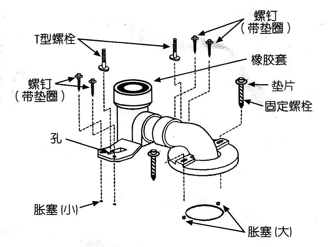 墙排马桶移位施工图
