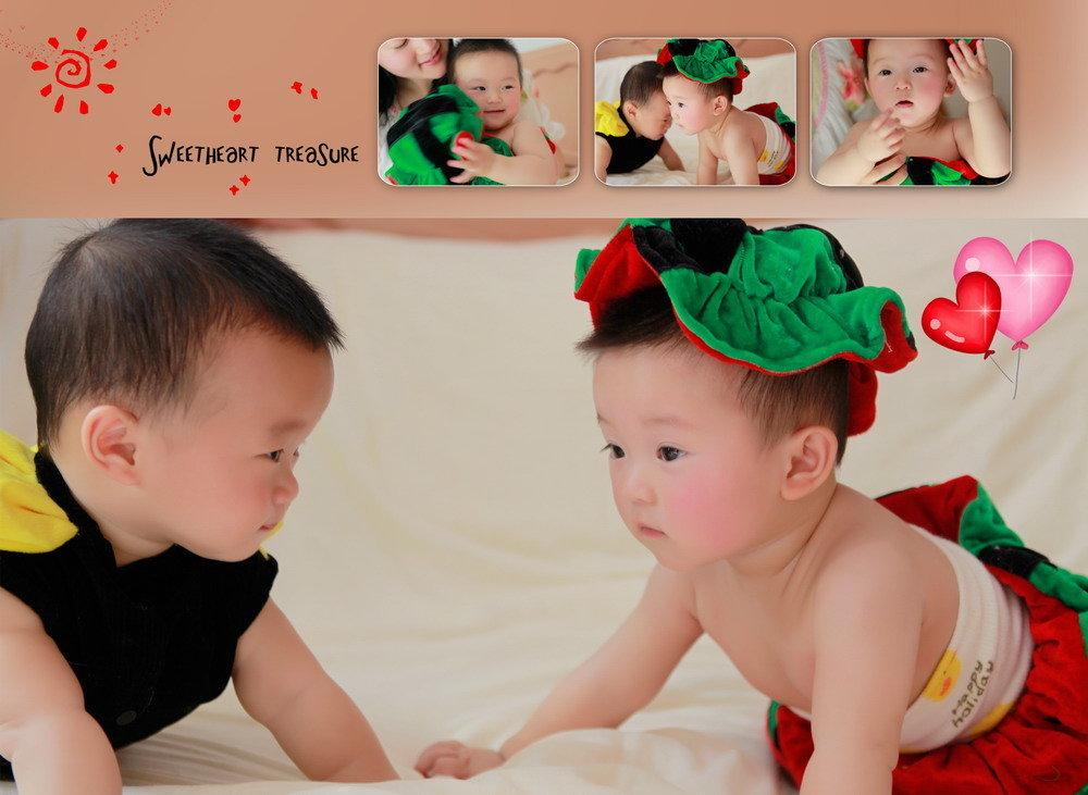 全母乳喂养的双胞胎小兄妹