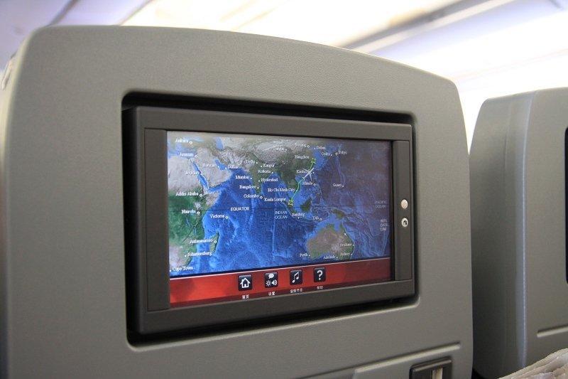 亚航杭州飞吉隆坡的大飞机上坐位后也有小