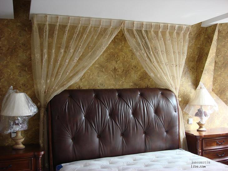一楼卧室的窗帘&