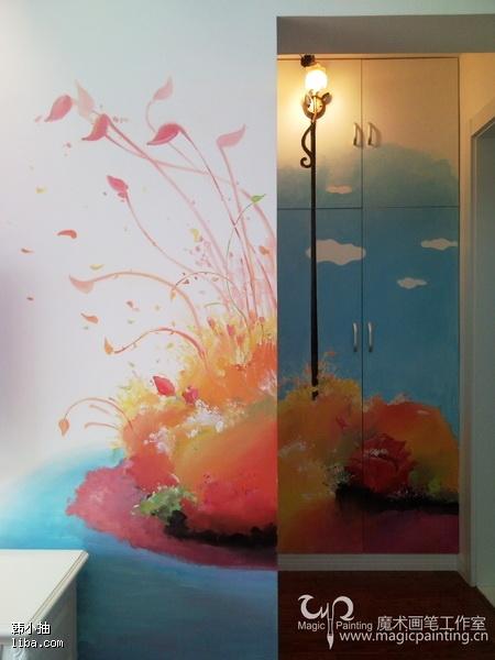 我们主营纯手工的绘画,雕塑等艺术作品——墙体墙绘,大型壁画,装饰