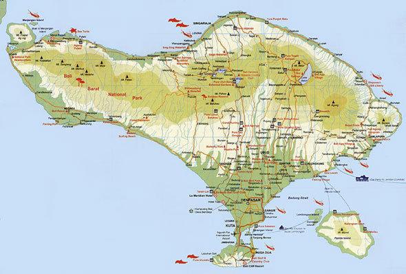 巴厘岛新加坡马来西亚地图