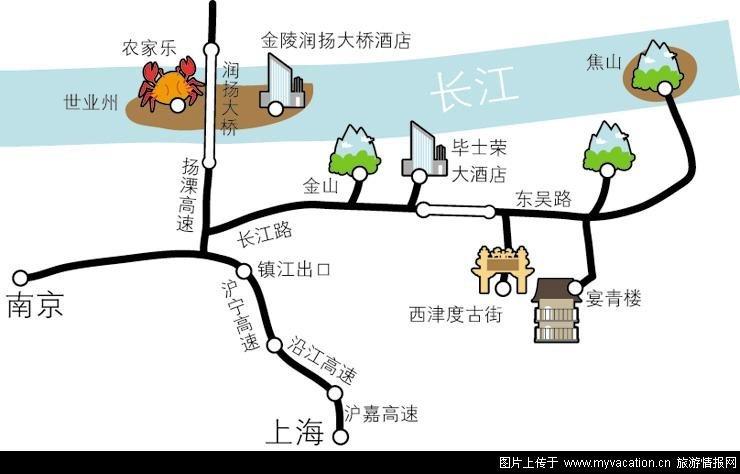 《地图》2010年4月--镇江/南京/南京攻略琉璃,扬州自助一日游攻略图片