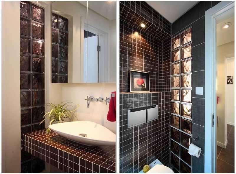 卫生间干湿分离玻璃墙效果