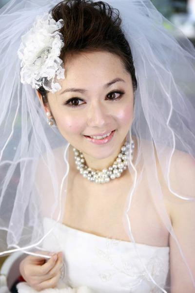 2018新娘短发白纱造型分享展示图片