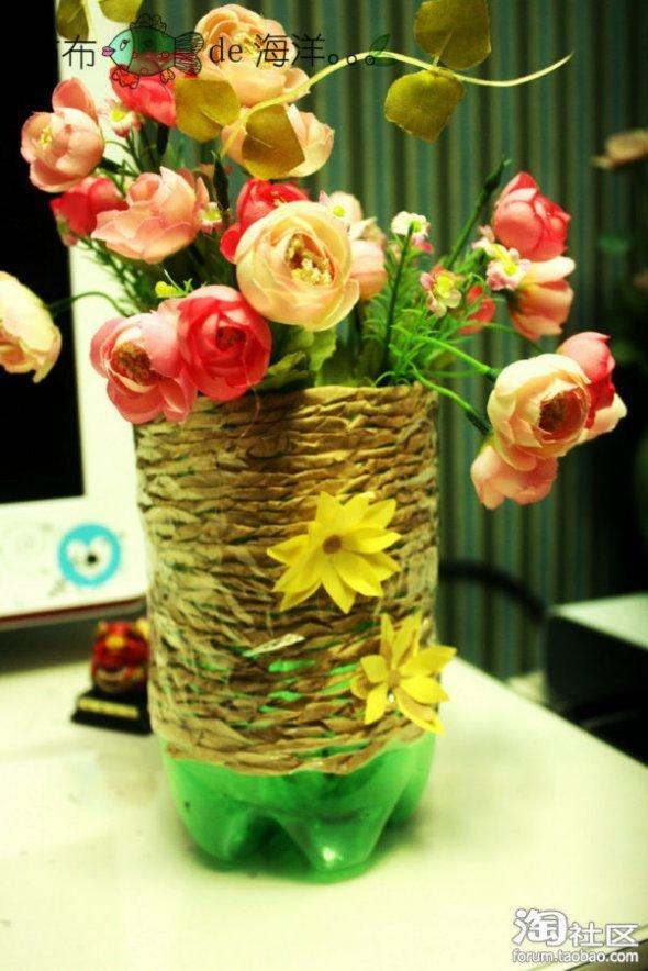 雪碧瓶做花瓶,篱笆tx真是善于化腐朽为神奇