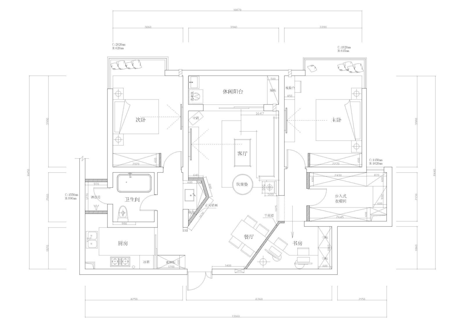 上原始房型图和设计图,请大家提意见