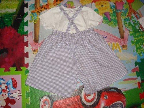 女宝夏季背带裤套装 糖果袜