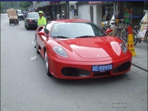 红色法拉利跑车,上图高清图片