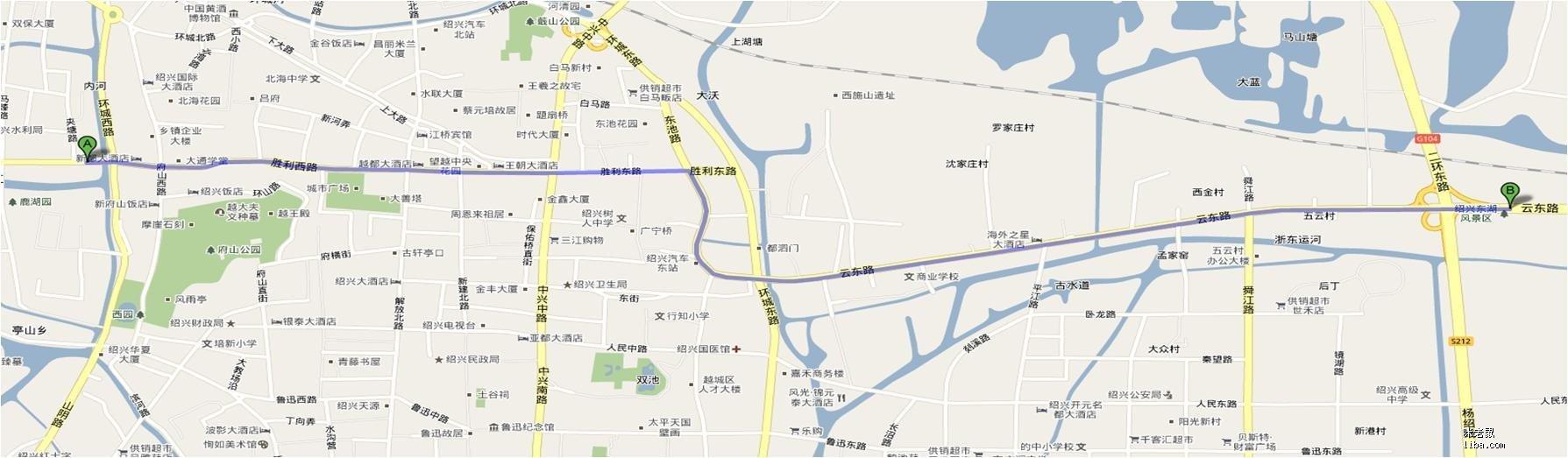 绍兴东湖风景区地图