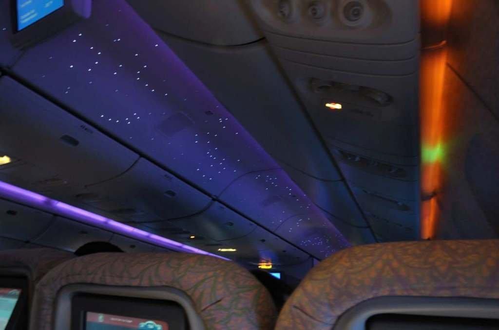 阿航飞机上的繁星点点