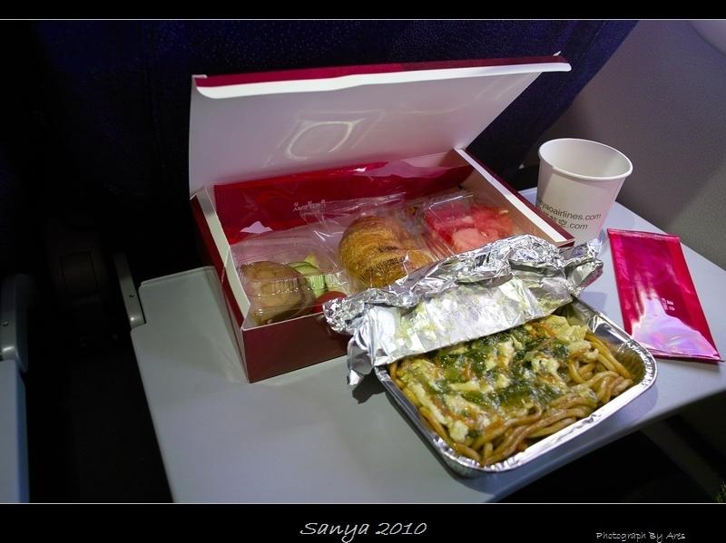 吉祥航空的飞机餐,面条