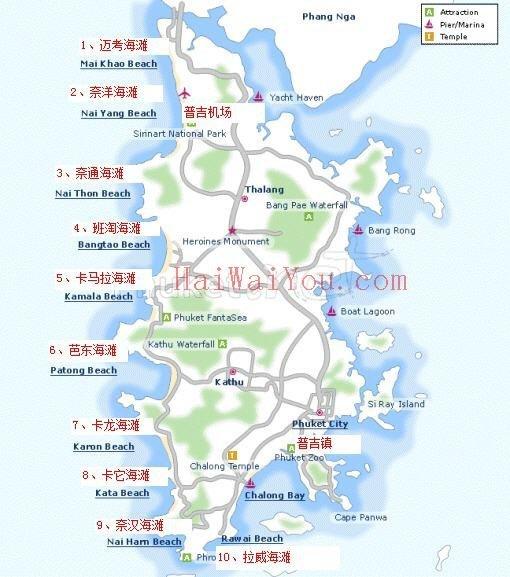 卡玛拉海滩位于普吉岛的西海岸,距市区22公里,与苏林海滩相邻,该处