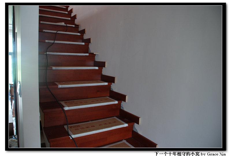 [转载]别墅装修:实木楼梯安装步骤全过程记录