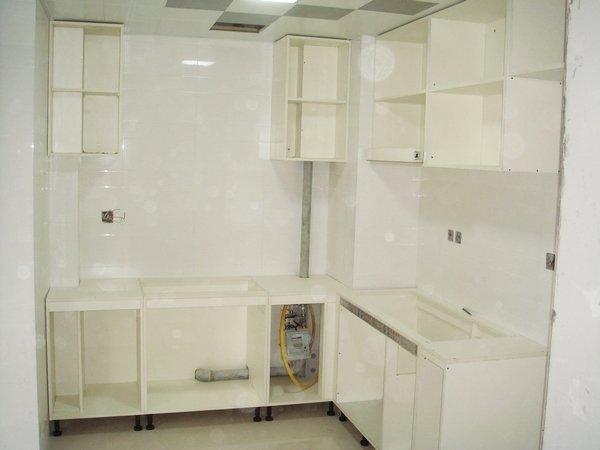 小三房装修开工 铭万半包 自购主材 橱柜开始安装啦 整体效果
