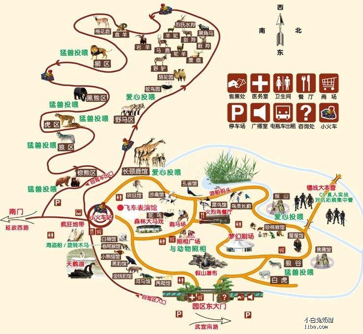 野生动物园导游图