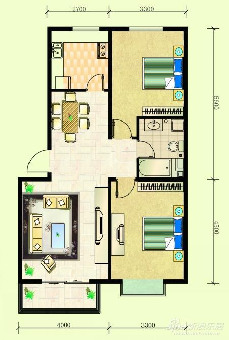我的新房两室两厅一卫想改三室好改吗,装修设计进 高清图片