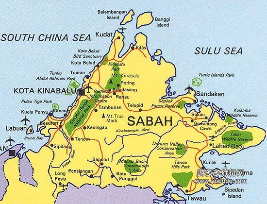 新加坡沙巴地图
