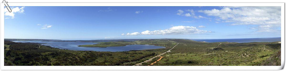 袋鼠岛最后的一个景点就是prespect hill,从这里向北可以看到