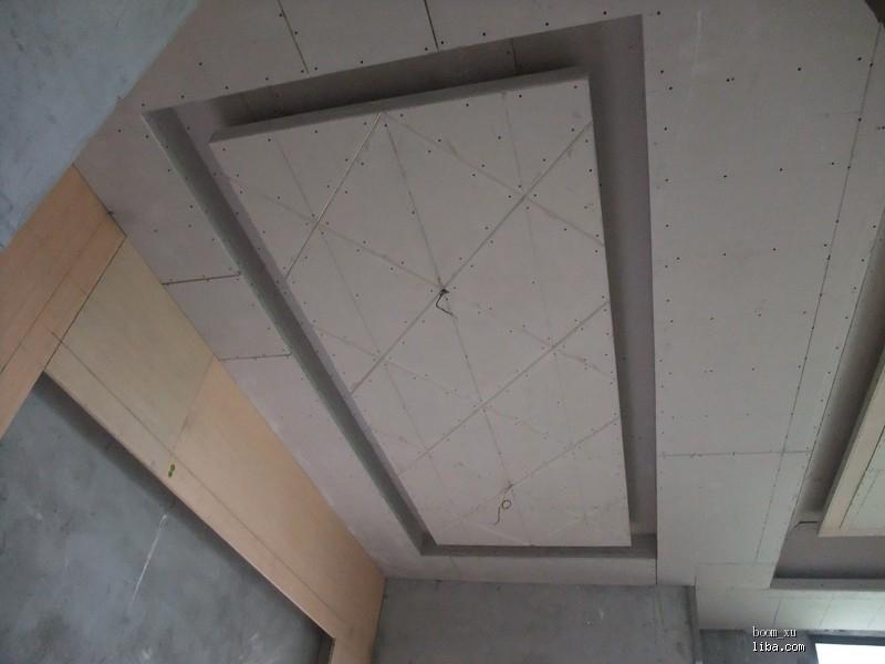 进门过道吊顶2(木工板上造型已完成)