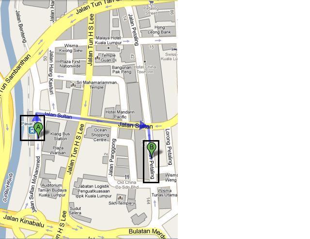 petaling(茨厂街-唐人街)地图